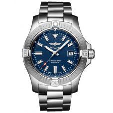 Breitling Mens Avenger Automatic 43 Blue Dial Bracelet Watch A17318101C1A1