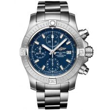Breitling Mens Avenger Automatic Chronograph 43 Blue Dial Bracelet Watch A13385101C1A1