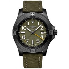Breitling Mens Limited Edition Avenger GMT Night Mission Watch V323952A1L1X2