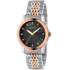 Gucci Ladies G-Timeless Two Colour Bracelet Watch YA126512