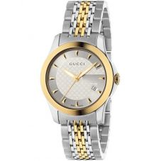 Gucci Ladies G-Timeless Two Colour Bracelet Watch YA126511