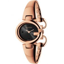 Gucci Ladies Guccissima Rose Gold Plated Bangle Watch YA134509