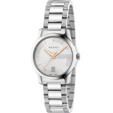 Gucci Ladies G-Timeless Stainless Steel Bracelet Watch YA126523