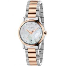 Gucci Ladies G-Timeless Two Colour Diamond Bracelet Watch YA126544