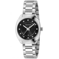 Gucci Ladies GG2570 Stainless Steel Diamond Set Bracelet Watch YA142503