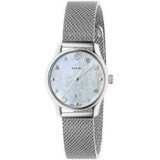 Gucci Ladies G-Timeless Mother Of Pearl Dial Mesh Bracelet Watch YA126583