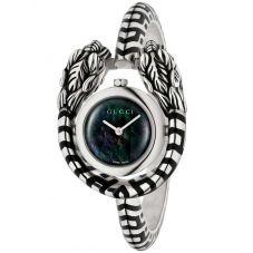 Gucci Ladies Dionysus Sterling Silver Snake Bangle Watch YA149501