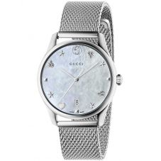 Gucci Ladies G-Timeless Medium Mesh Bracelet Watch YA1264040
