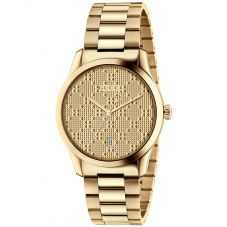 Gucci G-Timeless Gold Plated Patterned Dial Bracelet Watch YA126461A