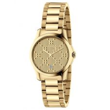 Gucci Ladies G-Timeless Gold Plated Dial Bracelet Watch YA126553A