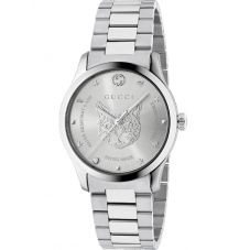 Gucci Unisex G-Timeless Stainless Steel Mystic Cat Motif Bracelet Watch YA1264095