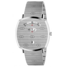 Gucci Grip Stainless Steel Covered Dial Bracelet Watch YA157410
