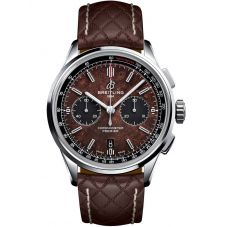 Breitling Limited Edition Premier B01 Chronograph 42 Bentley Centenary Brown Leather Strap Watch AB01181A1Q1X1