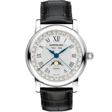 Montblanc Mens Star Quantieme Complet Leather Strap Watch 108736