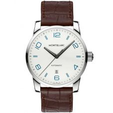 Montblanc Mens Timewalker Brown Leather Strap Watch 110338