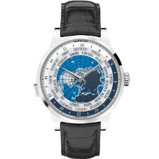 Montblanc Mens Heritage Spirit Orbis Terrarum World Map Leather Strap Watch 112308