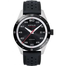 Montblanc Mens Timewalker Date Rubber Strap Watch 116059