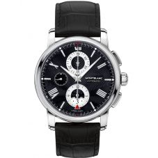 Montblanc Mens 4810 Chronograph Leather Strap Watch 115123