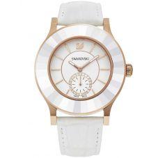 Swarovski Octea Classica Gold Tone White Dial Strap Watch 5043143