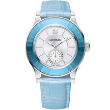 Swarovski Octea Classica Light Blue Strap Watch 5131874