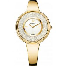 Swarovski Crystalline Pure Gold Tone White Bracelet Watch 5269253