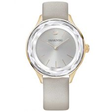 Swarovski Octea Nova Grey Strap Watch 5295326