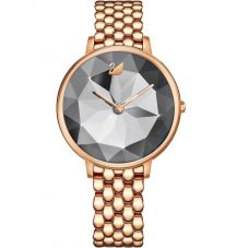Swarovski Crystal Lake Rose Gold Tone Grey Watch 5416023