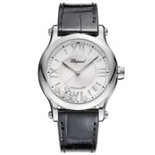 Chopard Ladies Happy Sport Diamond Strap Watch 278559-3001