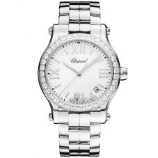 Chopard Ladies Happy Sport Diamond Bezel Bracelet Watch 278582-3004