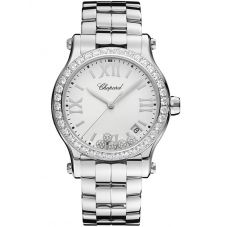 Chopard Ladies Happy Sport Diamond Bracelet Watch 278590-3004