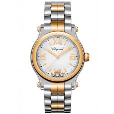 Chopard Ladies Happy Sport Rose Diamond Bracelet Watch 278590-6002