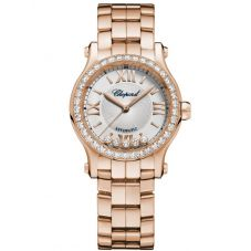 Chopard Ladies Happy Sport 18ct Rose Gold Bracelet Watch 274893-5004