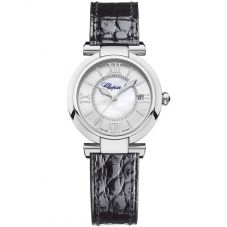 Chopard Ladies Imperiale Black Leather Strap Watch 388563-3005