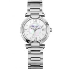 Chopard Ladies Imperiale Silver Bracelet Watch 388563-3006