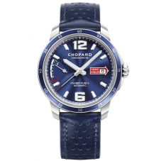 Chopard Mens Limited Edition Mille Miglia Power Control Automatic Blue Leather Strap Watch 168566-3011