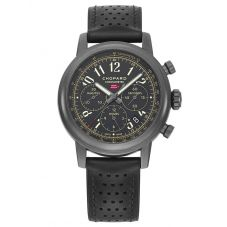 Chopard Mens Mille Miglia 2020 Race Limited Edition Black Leather Strap Watch 168589-3028