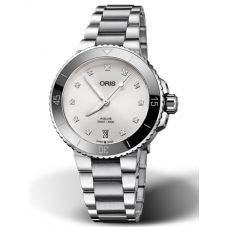 Oris Ladies Aquis Diamond Date Bracelet Watch 773 7731 4191-07-MB