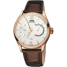 Oris Mens Artelier 18ct Rose Gold 110 Year Limited Edition Mechanical Strap Watch 110 7700 6081-SET LS