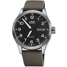 Oris Mens Big Crown ProPilot Big Day Date Grey Fabric Strap Watch 752 7698 4164-07 5 22 14