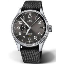 Oris Mens Big Crown ProPilot GMT Date Black Fabric Strap Watch 748 7710 4164-07
