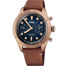 Oris Mens Divers Sixty-Five Carl Brashear Limited Edition Strap Watch 771 7744 3185-SET LS