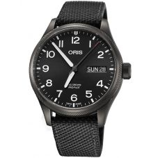 Oris Mens Big Crown ProPilot Big Day Date Black Strap Watch 752 7698 4264-07 5 22 15GFC