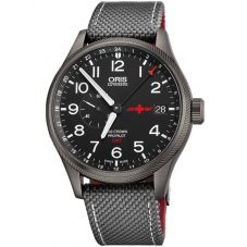 Oris Mens Big Crown ProPilot GMT Rega Limited Edition Strap Watch 748 7710 4284-SET TS
