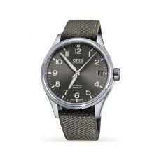 Oris Mens Big Crown ProPilot Big Date Grey Leather Strap Watch 751 7697 4063-07 TS
