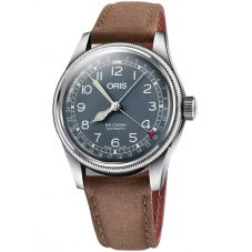 Oris Mens Big Crown Pointer Date Brown Leather Strap Watch 01 754 7741 4065-07 5 20 63