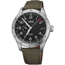 Oris Mens Big Crown ProPilot GMT Timer Green Fabric Strap Watch 01 748 7756 4064-07 3 22 02LC