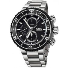 Oris Mens ProDiver Chronograph Date Bracelet Watch 774 7727 7154-SET