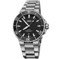 Oris Mens Aquis Date Black Automatic Bracelet Watch 733 7730 4124-07 MB