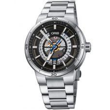 Oris Mens TT1 Engine Date Skeleton Bracelet Watch 733 7752 4124-07 8 24 08