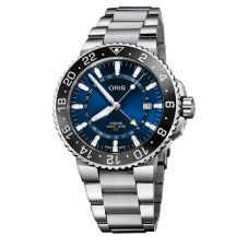 Oris Mens Aquis GMT Date Bracelet Watch 798 7754 4135-07 8 24 05PEB